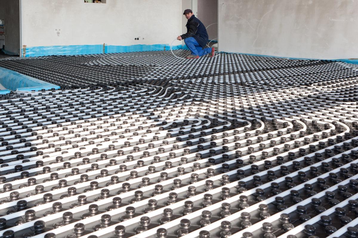 vloerverwarming droog systeem