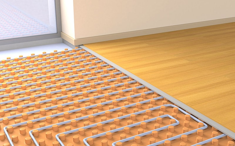 houten vloerbedekking vloerverwarming